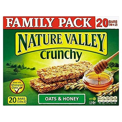 Nature Valley Bars Crunchy Granola - Avoine et miel (10x42g) - Paquet de 6