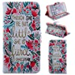 iPhone 4 Flip Case,iPhone 4S Wallet Cover, Kakashop Fashion Cute Colorful Painting Pattern Magnetic Design Premium PU Leather Book Case Cover Pouch for Apple iPhone 4/4S - Red Flowers
