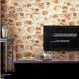 H&M Fondo de Pantalla Papel pintado PVC Retro 3D Imitación Textura de piedra Papel pintado Dormitorio decorativo TV Pared Sala de estar Bar Tienda de ropa Papel pintado -53cm (W) * 10m (L) ,A