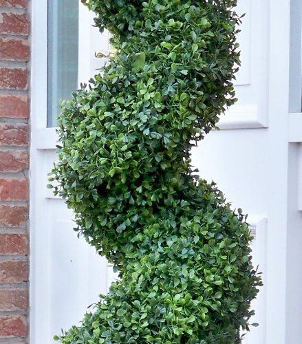 Best Artificial TM künstlicher Buchsbaum, Baum im Spiral-Formschnitt, Schutz vor Verblassen durch UV, 180 cm
