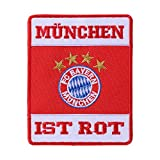 München FC Bayern Aufnäher, Patch, Aufbügler Rot FCB - Plus Gratis Lesezeichen I Love