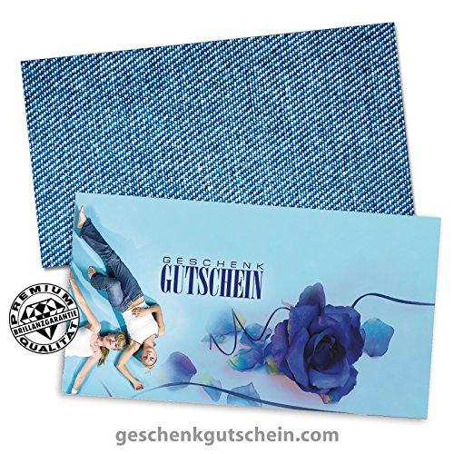100 Stk. Geschenkgutscheine + 100 Stk. Kuverts für Mode, Bekleidung, Fashion, Jeans FA1212 (Bekleidung Geschenkgutscheine)