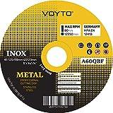 Top Quality ultra sottile, confezione da 10x 125x 1mm smerigliatrice angolare saw- circolare in metallo dischi da taglio–acciaio inox, dischi da taglio