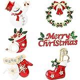Spilla natalizia, 4 pezzi, per donne e ragazze, regalo di Natale