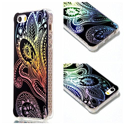COOVY® Cover für Apple iPhone 5 / 5S / SE ultra dünne, bunte Designer TPU Silikon Bumper Hülle, Slim Schutzhülle, Case im Hologramm Design | Design 04