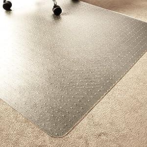 Marvelux ECO (Polymer) Bodenschutzmatte für Teppichböden   150 x 120 cm   rechteckig   transparent   in verschiedenen Größen erhältlich