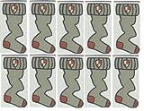 LEGO Harry Potter - 10 Fliesen mit Socken-Aufdruck von Dobby mit 1x2 Noppen - LEGO