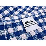 Filu Servilletas, 100 % algodón, azul oscuro / blanco, 4 unidades