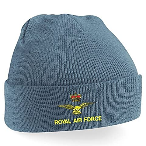 Blue Rock Men's Womens Unisex Fit RAF Logo Embroidered Beanie Hat, BRBH