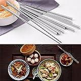 Skywalk 5 Pairs Stainless Steel Round Chopsticks Chinese Stylish Healthy Chopstick