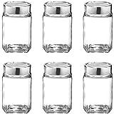 TREO Glass Storage Jar - 310 Ml, 6 Pieces, Transparent
