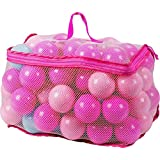 100 Playballs in Mesh Carry Bag (Pink and Blue)