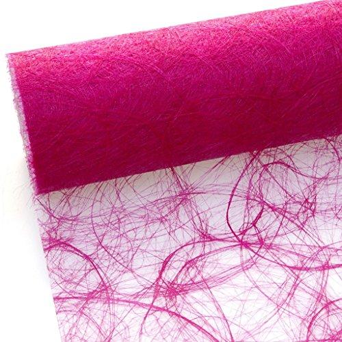 Sizoweb Tischband - 25 Meter Rolle + 100 Deko Herzen Gratis (30cm Breite,in Pink)