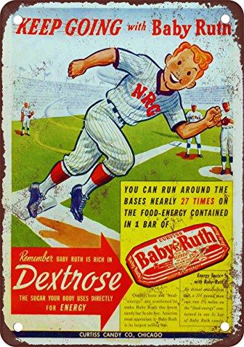 baby-ruth-e-baseball-stile-vintage-riproduzione-targa-in-metallo