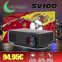 proyector con TDT Luximagen SV100 negro con TDT HD, USB, HDMI, VGA, AC3, 2 años de garantía