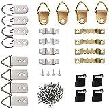 64-Delige Picture Hanger Kit, Compleet Met Accessoires, Gemaakt Van Roestvrij Staal, voor Het Bevestigen Van Foto's, Klokken,