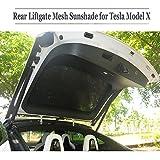 Teslaowner Hinteren Schiebedach Liftgate Mesh, Sonnenschirme, Dachfenster Blind Schattierung Netto Vorhang für Model X
