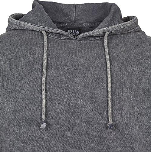 Urban Classics Herren Kapuzenpullover Vintage Hoody Grau (Grey 00111)