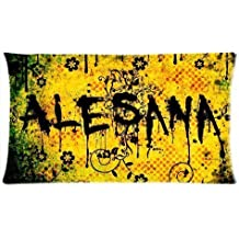 Band Alesana Pillowcase Custom Throw Pillow cover 20x36 Zippered Pillow Case Two Sides Picture Printed Soft Cotton Comfortable