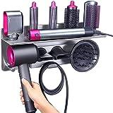 Kyrio 2-i-1 hårtorkshållare stativ för Dyson hårlocktång och hårtork, väggmontering organiseringsställ kompatibel med Dyson A