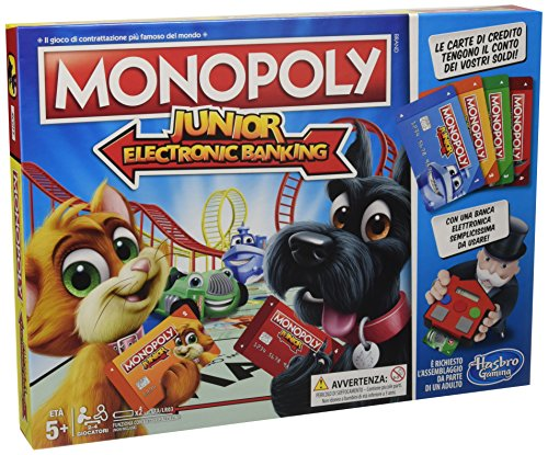 Hasbro Gaming Monopoly Junior Electronic Banking, Spiel in Behälter (Electronic Monopoly)