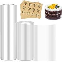 2 PCS Colliers à Gâteau, Rouleau dacétate Transparent Rouleau de Polypropylene, Ruban de Gâteau Transparent Feuille pour…