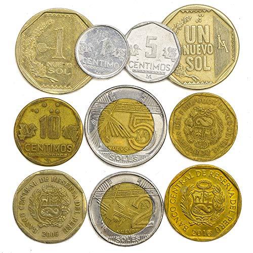10 Peru Münzen aus Südamerika alt Sammlerstück peruanischen Münzen viel CÉNTIMOS Sohlen. PERFEKTE Wahl FÜR IHRE SPARDOSE, MÜNZE Inhaber UND MÜNZENALBUM (Peru Münzen)