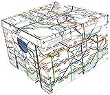 Robert Frederick London Underground Collapsible Storage Box, Plastic, Assorted