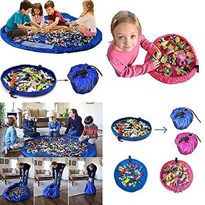 FULL-LINKTM Large or Small Portable Kids Play Mat Storage Bag Toys Organizer Rug Box UK Sell