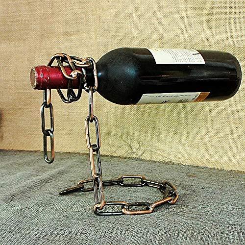 Unbekannt YF Magisches Weinregal Mode Weinschrank Wohnzimmer Display Halter Restaurant Vintage Eisen Edelstahl Kette Bronze Weinregal Halter & Ständer