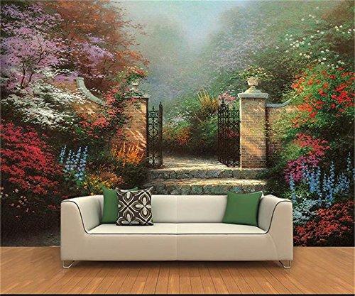 Yosot 3D Tapeten Individuelle Fototapete Wohnzimmer Wandbild Thomas Wald Landschaft Öl Malerei Sofa Hintergrundbild Für 3D-Wand-400Cmx280Cm -