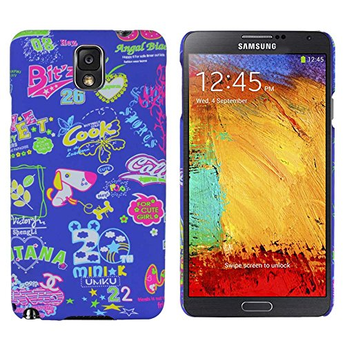 Heartly Cartoon Printed Design High Quality Hard Bumper Back Case Cover For Samsung Galaxy Note 3 N9000 - Blue + Pink  available at amazon for Rs.239