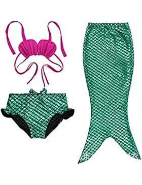 Highdas New Kids beb¨¦s Poco Traje de la sirena del bikini del traje de Kids traje de Kids determinado de Kids