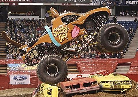Monster Truck Scooby Doo–meilleure qualité photo poster. Véritable. Amazing Décoration pour mur. Taille A4