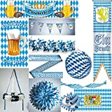 Partyselect Bayern Oktoberfest Deko Set XXL Dekoration Wiesn