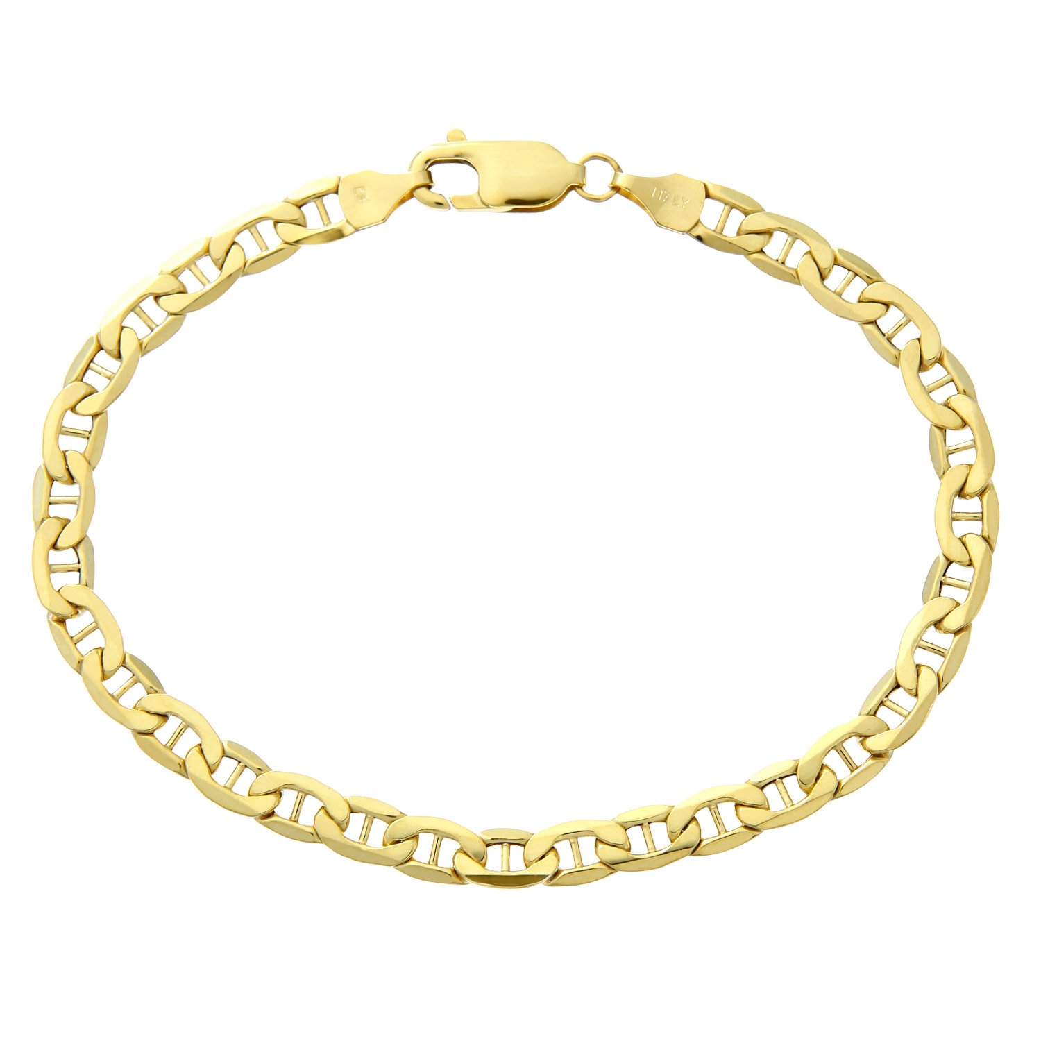 Citerna 7.5 inch/19 cm Length and 0.5 cm Width Anchor 9 ct Yellow Gold Bracelet