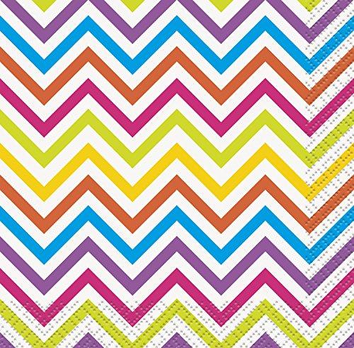 5-rainbow-chevron-servilletas-de-papel-pack-de-16