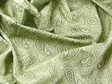 Tonal Paisley Print Baumwolle Popeline Kleid Stoff