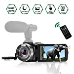 """Camcorder Digitale Videokamera IR-Nachtsicht Camcorder Full HD 1080P 30FPS 3""""LCD-Touchscreen Vlog Kamera mit Fernbedienung"""