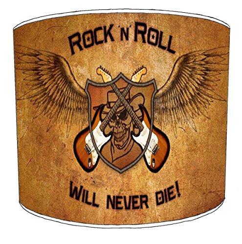 30,5cm Tabelle rock n roll will never die Lampenschirmes