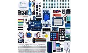Elegoo Progetto Arduino Scheda Uno R3 Starter Ultimate Kit Piu Completo per Principianti con Tutorial in Italiano Learing Kit di Apprendimento (63 Articoli)
