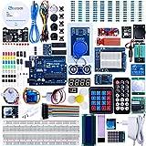 Elegoo Conjunto Avanzado de Iniciación a Arduino UNO con Tutorial en Español y Conjunto de Arduino UNO R3, Relé, Modulo de Fuente de Alimentación, Pantalla LCD1602, Motor Paso a Paso, Breadboard, etc.