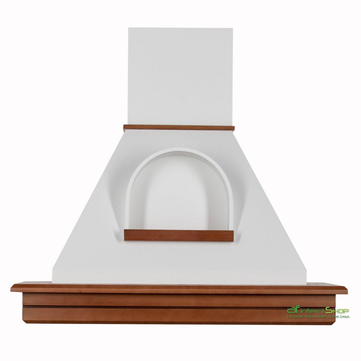 Cappa cucina rustica legno mod.Stock 90 parete -noce biondo cono ...