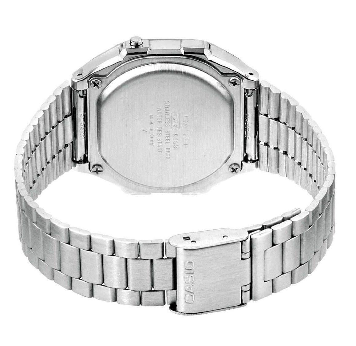 Casio A168WA-1YES – Reloj , correa de acero inoxidable chapado color