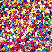 Pequeños, multicolor en miniatura Botones – Tamaño: 6 mm Redondo – Botones para muñecas