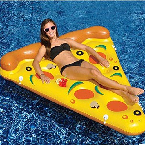 Riesiges Aufblasbares Pizza Pool Floß Spielzeug Schwimmring Luftmatratzen 180*130*18cm Pusheng