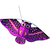 jiashemeng Kite for Children & Adults, Outdoor Colorful Cartoon Owl Easy Flying Kite with 50m Line Children Kids Toys Purple
