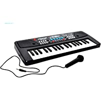 BabbarSher Crafts 37 Key Piano Keyboard Toy with with DC Output, Microphone Included, Recording for Kids - 2019 Latest Model