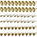 NIUPIKA 3 mm Messingdrahtbürsten, Tassenräder-Reinigungsbürstensatz, Polieraufsatz für Dremel Die Grinder, Präzisionswerkzeuge, 60 Stück von Cnmade - Werkzeug Shop