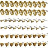 Cnmade 3mm filo di ottone spazzole Cup ruote spazzole per pulizia, lucidatura, attacco per smerigliatrice Dremel Rotary utensili 60pz